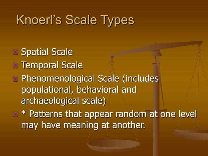 Knoerl's Scale Types
