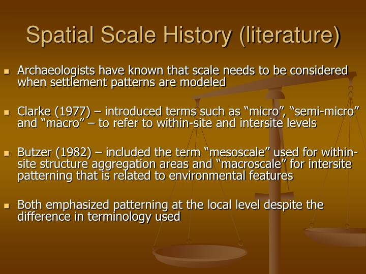 Spatial scale history literature