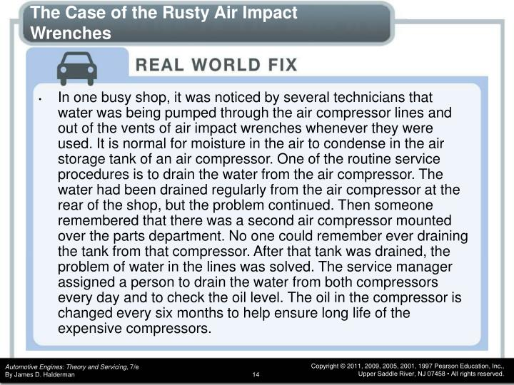 The Case of the Rusty Air Impact Wrenches