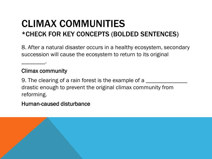 Climax Communities