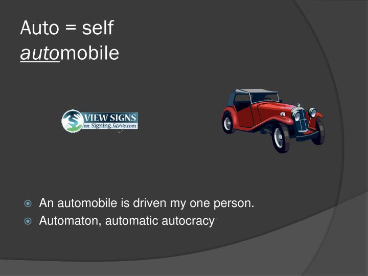 Auto = self