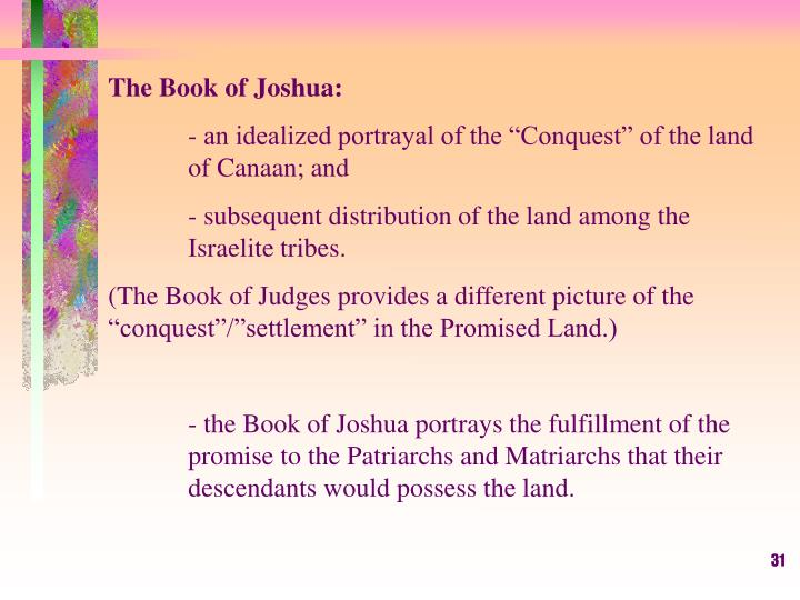 The Book of Joshua: