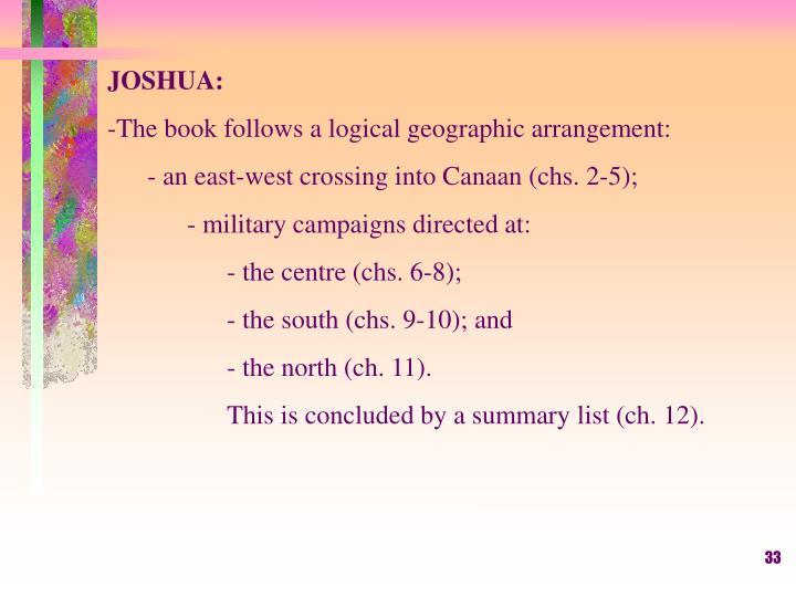 JOSHUA: