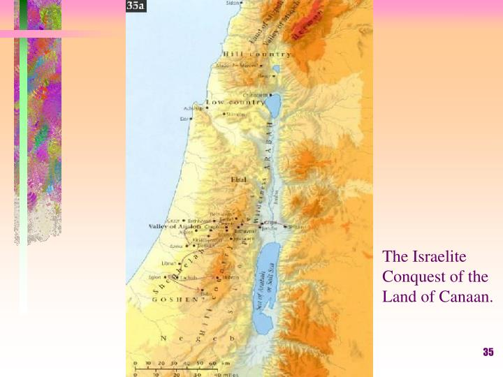 The Israelite Conquest of the Land of Canaan.