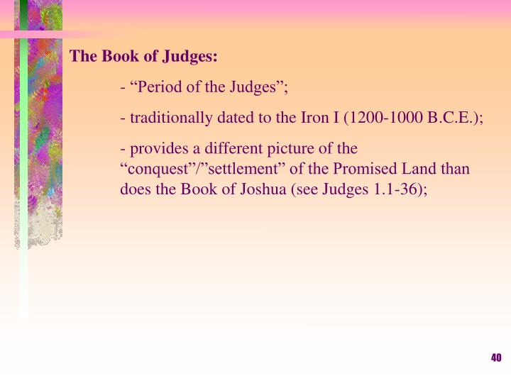 The Book of Judges: