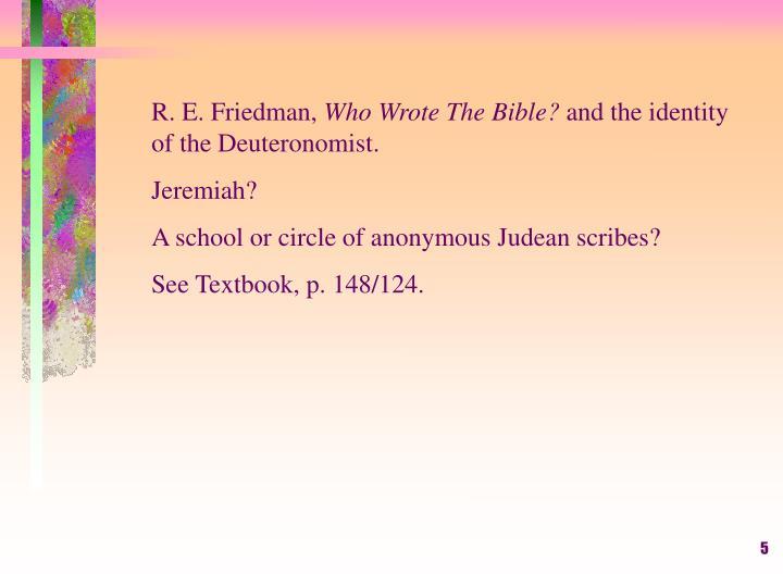 R. E. Friedman,