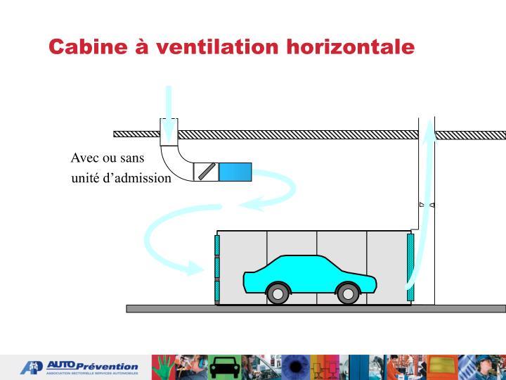 Cabine à ventilation horizontale
