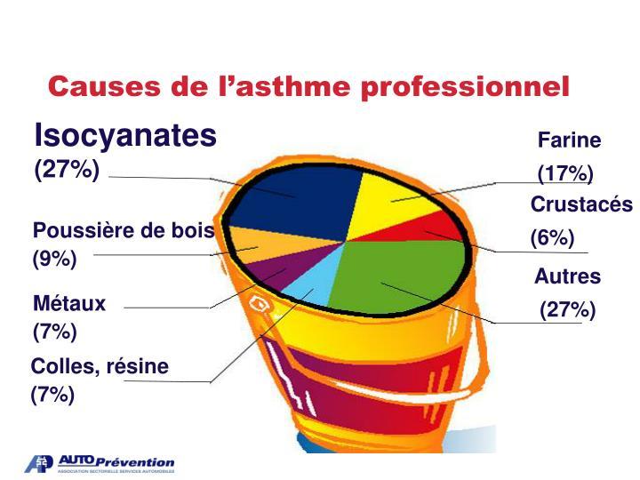 Causes de l'asthme professionnel