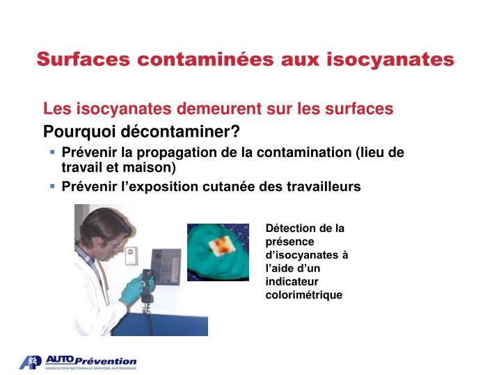 Surfaces contaminées aux isocyanates