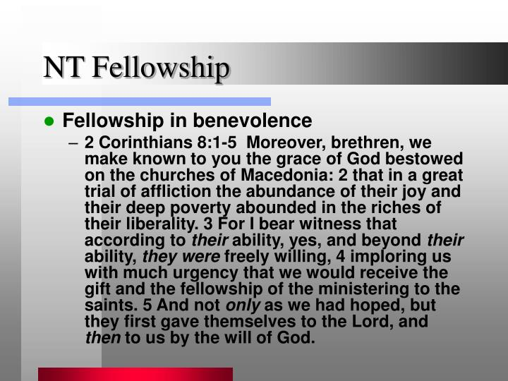 NT Fellowship