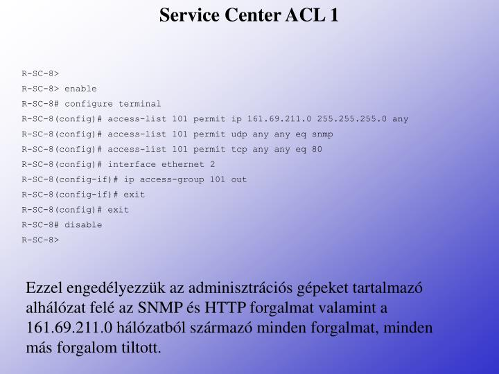 Service Center ACL 1