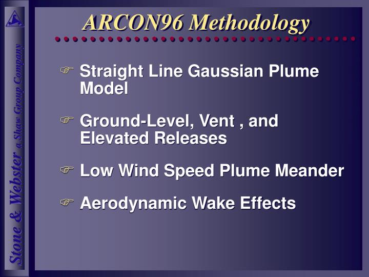 ARCON96 Methodology