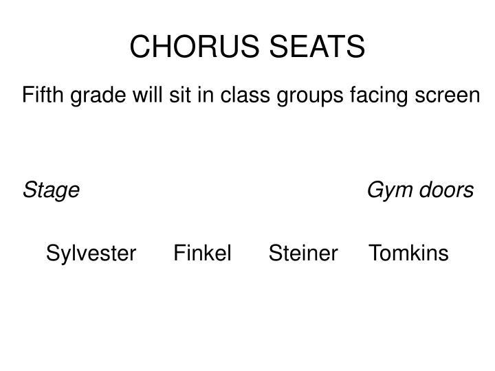 CHORUS SEATS