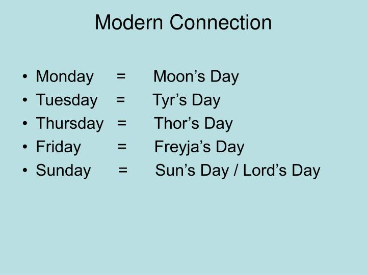 Modern Connection