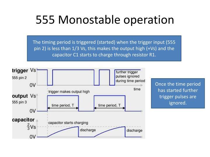 555 Monostable operation