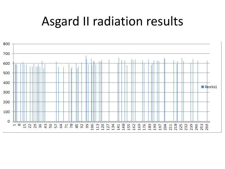 Asgard II radiation results