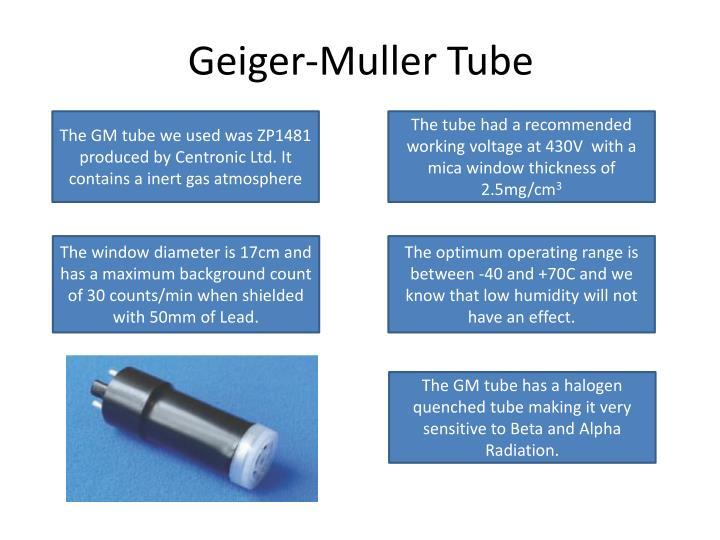 Geiger-Muller Tube