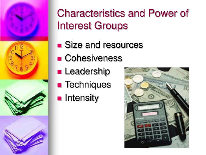 Characteristics and Power of Interest Groups