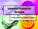 interest pressure groups