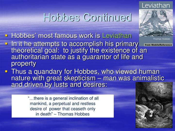 Hobbes Continued