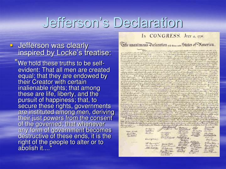 Jefferson's Declaration