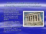 path from greek democracy to liberal representative government