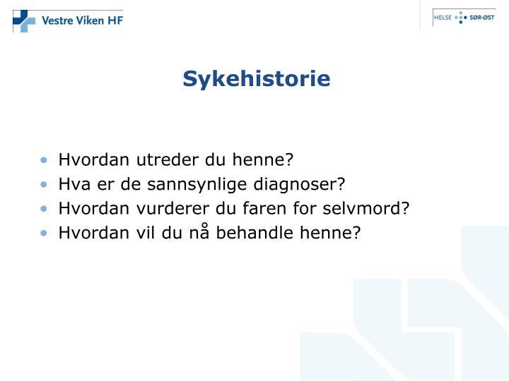 Sykehistorie