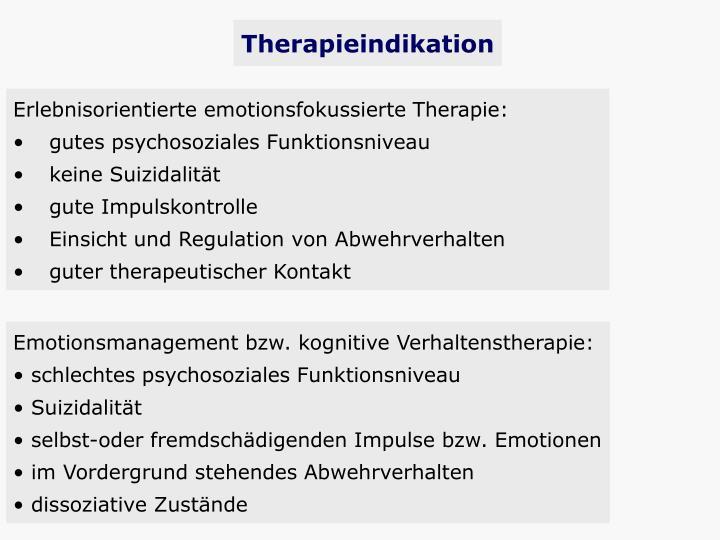 Therapieindikation