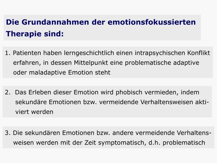 Die Grundannahmen der emotionsfokussierten