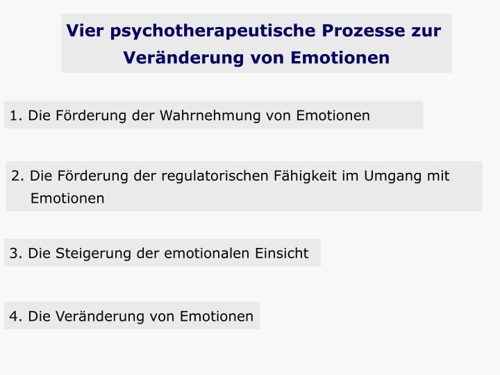 Vier psychotherapeutische Prozesse zur