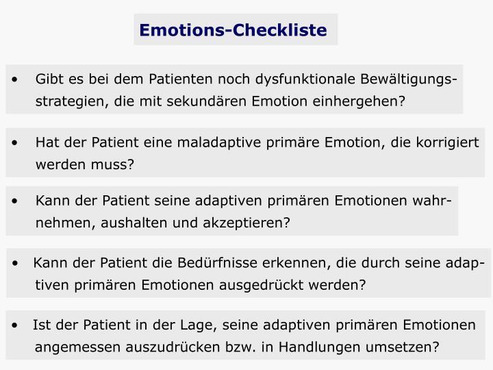 Emotions-Checkliste