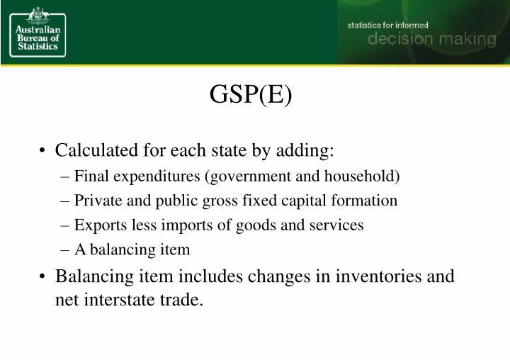 GSP(E)