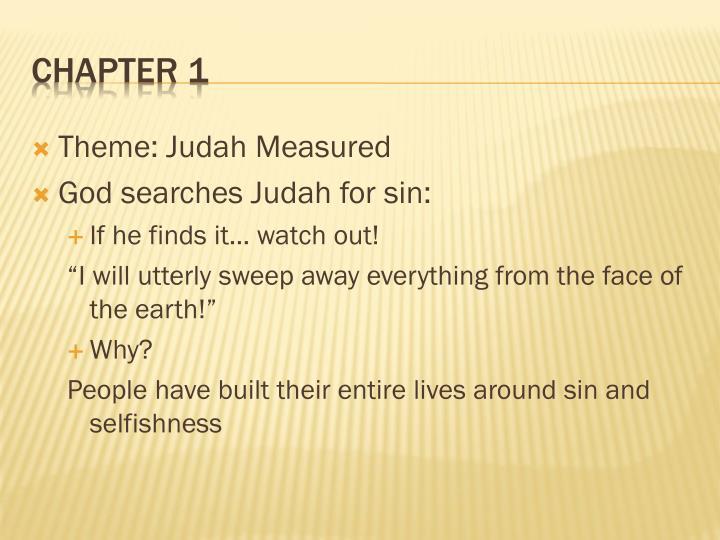 Theme: Judah Measured