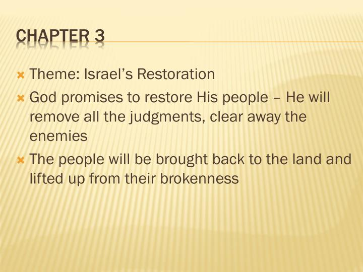 Theme: Israel's Restoration