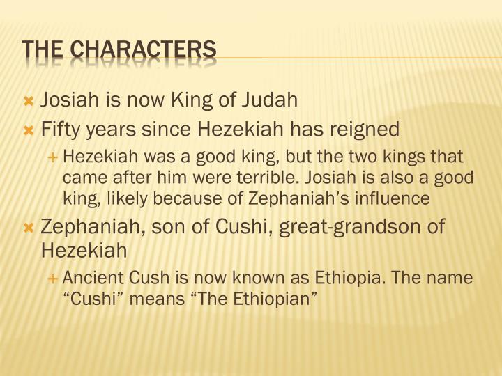 Josiah is now King of Judah