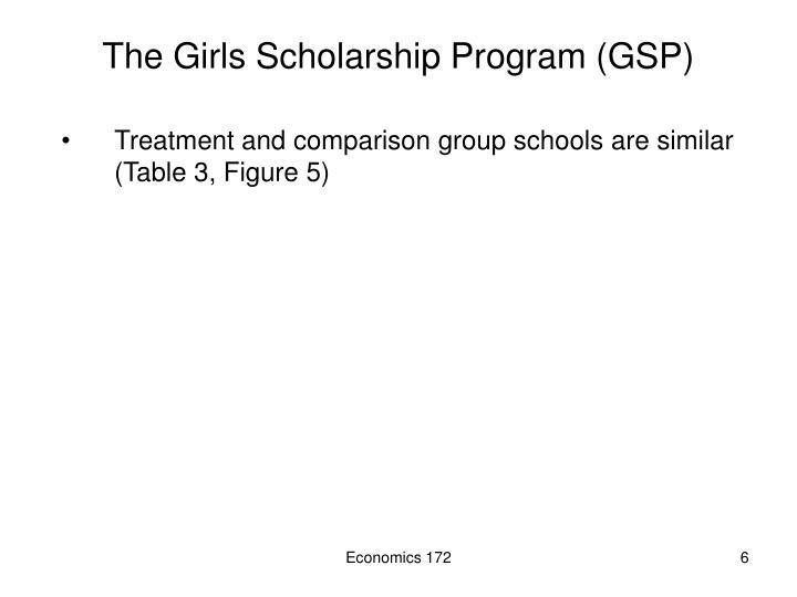 The Girls Scholarship Program (GSP)