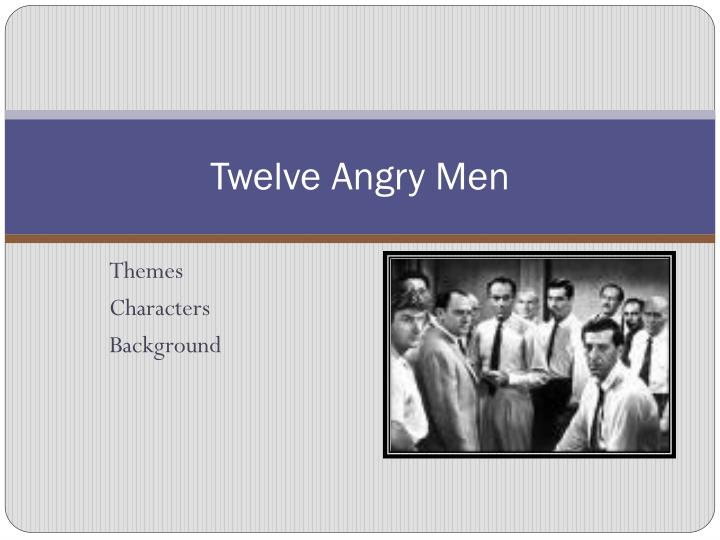 12 angry men 5 paragraph essay