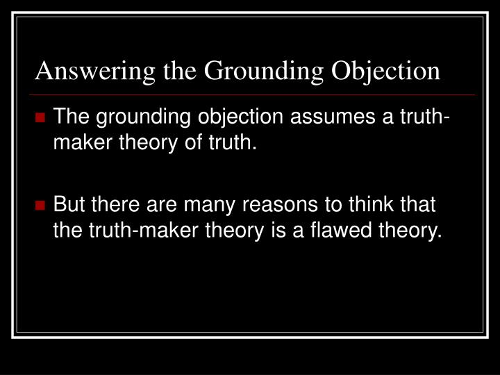 Answering the Grounding Objection