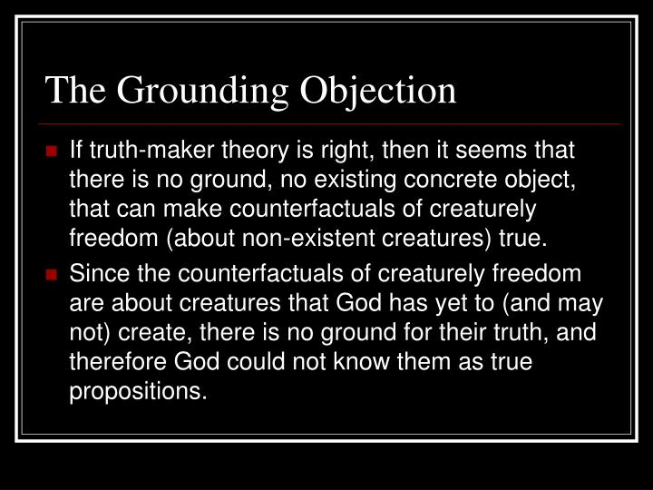 The Grounding Objection