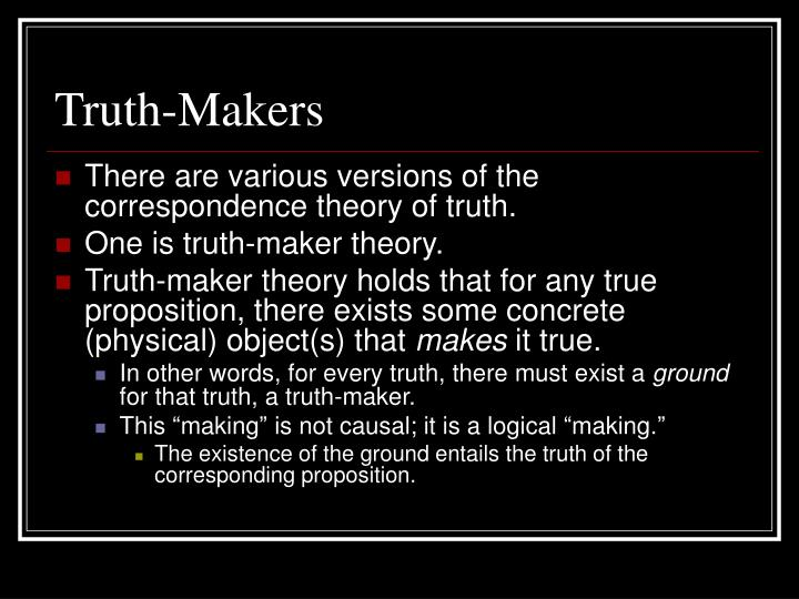 Truth-Makers