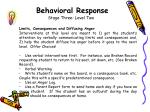 behavioral response stage three level two1