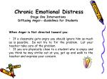 chronic emotional distress stage one interventions diffusing anger guidelines for students