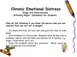 chronic emotional distress stage one interventions diffusing anger guidelines for students1