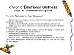 chronic emotional distress stage one interventions for agitation