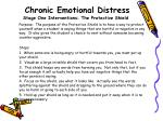 chronic emotional distress stage one interventions the protective shield