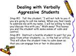 dealing with verbally aggressive students1