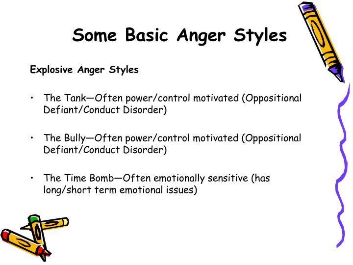 Some Basic Anger Styles