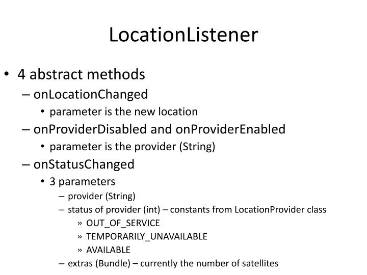 LocationListener