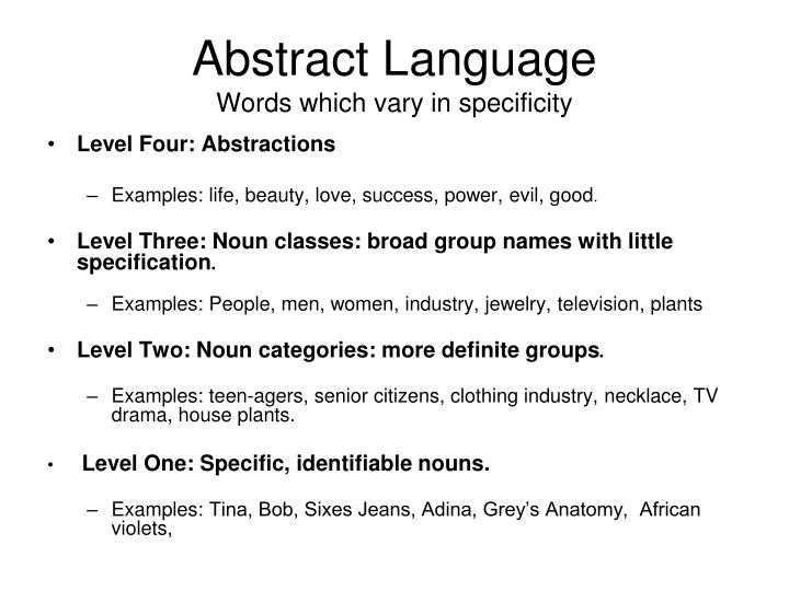 Abstract Language
