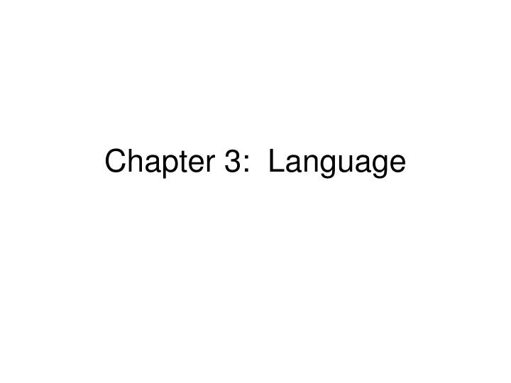 chapter 3 language